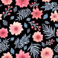 Aquarell Blumenmuster