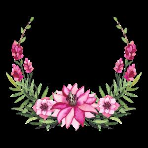 Blumenkranz - Rosa - Aquarellfarbe