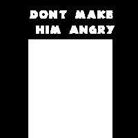 orangutan dont make him angry - shirt