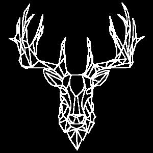 My Deer - Hirsch Geometrische Form WHITE