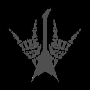 Rock n Roll Skeleton hands with guitar