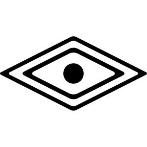 Auge des Medizin Mann, Indianisches Kraft Symbol