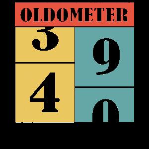 40 vierzig vierzigster Geburtstag oldometer - Shir