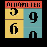 60 sechzig - ster Geburtstag oldometer - Shirt