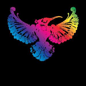 kolibri vogel mandla bunt
