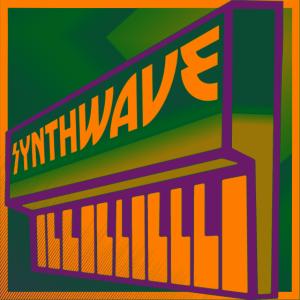 Synthwave Keyboard Green Orange