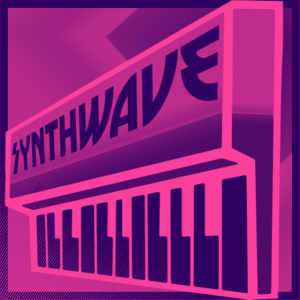 Synthwave Keyboard Purple Pink