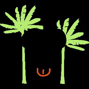 Affe unter Bananenbaum Comic