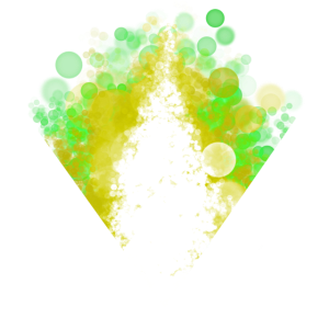 Digital Art Bubbles green