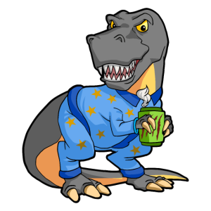 Kaffee Rex T-Rex Dinosaurier Morgenkaffee Muffel