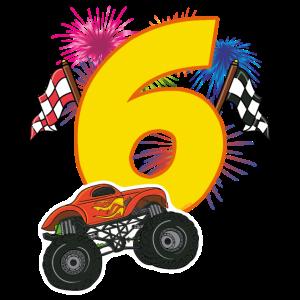 Geburtstag 6 Jahre Monster Truck, Auto T-Shirt