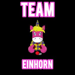 Team Einhorn Frau T Shirt für Partner und Paare