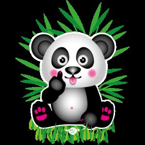 23 Baby Panda Stinkefinger Mittelfinger Bambus