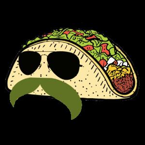 funny mustache taco