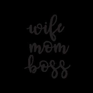 Wife Mom Boss Mama Mutter Tag Muttertag Geschenk