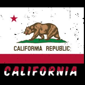 Kalifornien-Flaggenweinleseeffekt