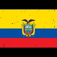 Ecuador-Flaggenweinleseeffekt