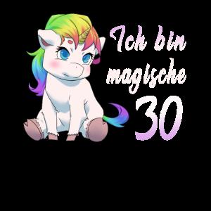 30 Jahre Einhorn 30. Geburtstag Freundin Geschenk