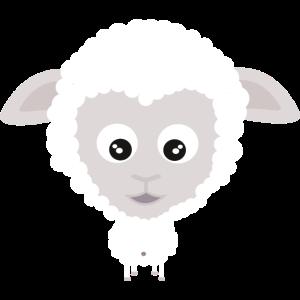 Süßes Comic Schaf Schäfchen Mäh Bauernhof Geschenk