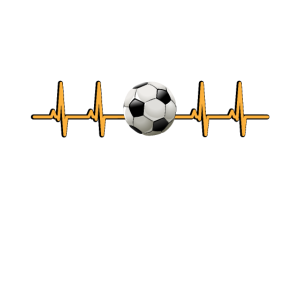 Fussball Bild EKG Kurve Herzschlag Herzfrequenz