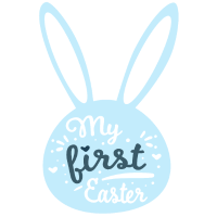 My first Easter. Hase in Blau