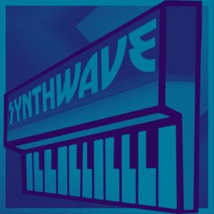 Synthwave Keyboard Blue Purple