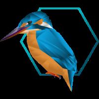 Low poly Eisvogel / Vogel