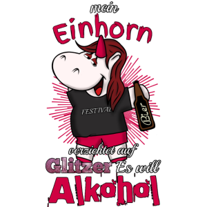 Einhorn mit Alkohol