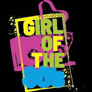 Mädchen der 80s 80er Jahre Mottoparty Tape Sprüche