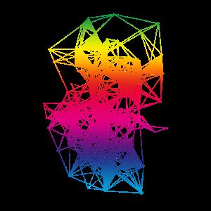Plexus Rainbow Design