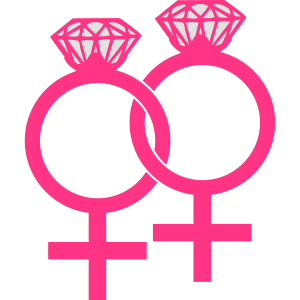 Lesbian Marriage Ring Symbol