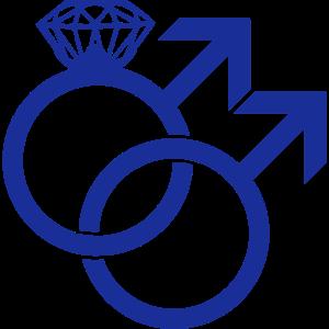 Gay Marriage Ring Symbol