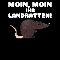 Moin Landratten Hamburg Seefahrer Geschenk Norden