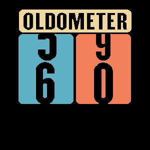 60 sechzigster Geburtstag birthday oldometer Shirt