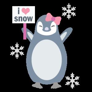 Penguin Loves Snow