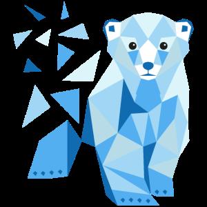 Polygon Eisbär Low Poly Eisbär