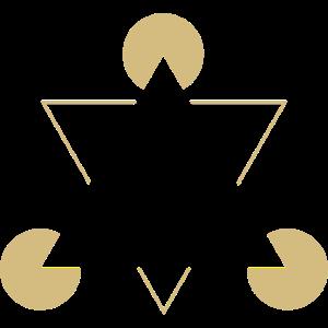 optical Ilusion triangle gold