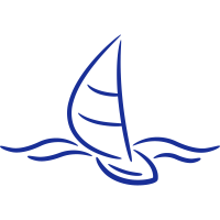 Sailing Boad And Waves Logo