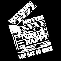 Filme machen mich gluecklich Spruch Geschenk