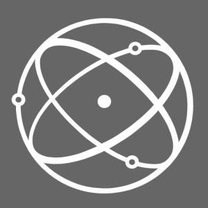 Atom, weiß