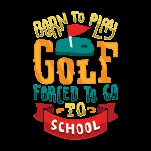 GOLF Kind Schule Golfen Golfball Golfplatz Golfen