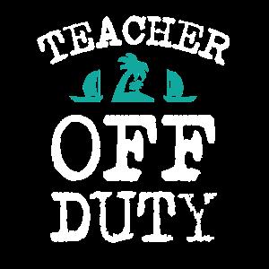 TEACHER OFF DUTY FREIBERUFLICHER LEHRER