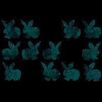 Zwölf lustige Häschen Bunnies Bunny Hasen
