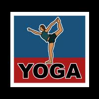 Yoga, Übung, Frau, Zeichnung