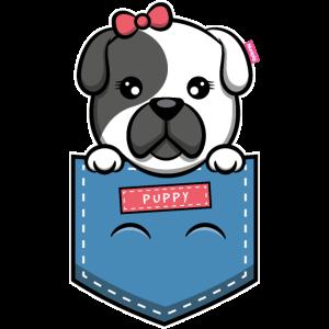 Pocket Dog Brusttasche Hund welpe Geschenk Puppy