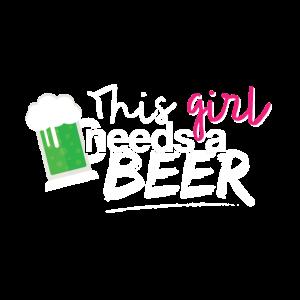 Dieses Mädchen braucht ein Bier
