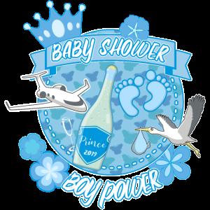Baby Shower Boy power Prinz Geschenk
