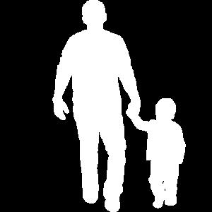 Vater Kind spazieren gehen Hand in Hand Geschenk