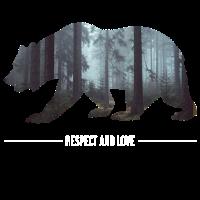 Bear Bär Outdoor Wald Wildnis Forest Geschenk Gift