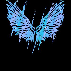 BLUE ANGEL WINGS - Energie Engelsflügel Rücken